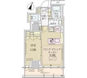 パークアクシス赤坂見附12階Fの間取り画像