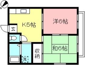 小田急相模原駅 徒歩10分2階Fの間取り画像