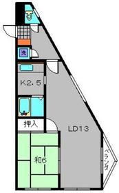コンフォルト232階Fの間取り画像