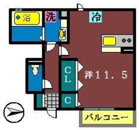 ソフィア(日の出)1階Fの間取り画像