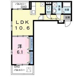 グラン ジェルメ3階Fの間取り画像