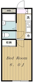 京王稲田堤駅 徒歩6分2階Fの間取り画像
