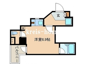 レジディア文京湯島II10階Fの間取り画像