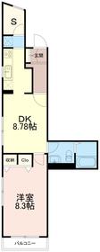 アパートメントライブライフ4階Fの間取り画像