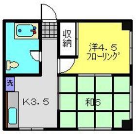 内田マンション4階Fの間取り画像