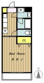 ケープアイランド2階Fの間取り画像