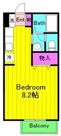 飛田給駅 徒歩7分2階Fの間取り画像