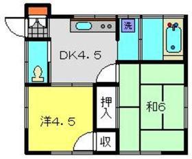 小栗荘1階Fの間取り画像