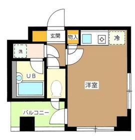 浜屋ビル3階Fの間取り画像