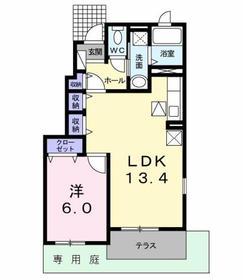 フリーデ Ⅱ1階Fの間取り画像
