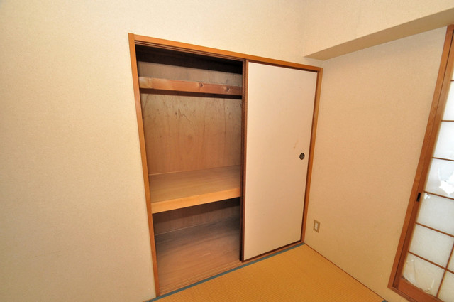 プラムガーデンハイツ もちろん収納スペースも確保。いたれりつくせりのお部屋です。
