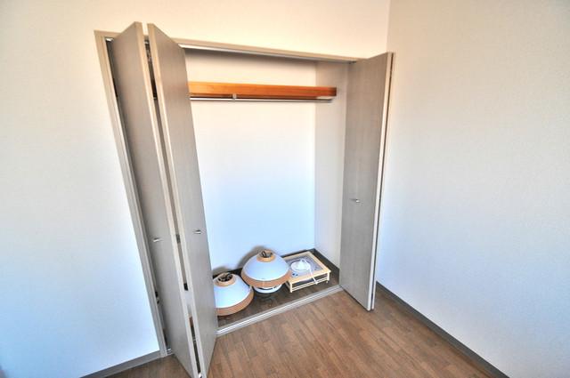 フルラーレ 大容量のクローゼットは荷物が多い方も安心ですよ。