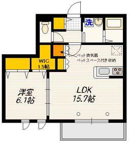 メゾン デュ リアン3階Fの間取り画像