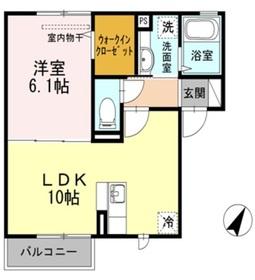 La mer桜上水Ⅱ2階Fの間取り画像