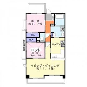 エーコー・カミキI5階Fの間取り画像