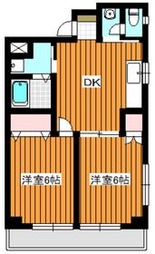地下鉄赤塚駅 徒歩8分4階Fの間取り画像