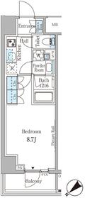 ルビア赤坂11階Fの間取り画像