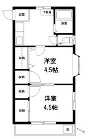 ビアンカ平和台2階Fの間取り画像