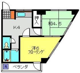 美春ビル3階Fの間取り画像
