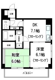 メゾン宝田4階Fの間取り画像