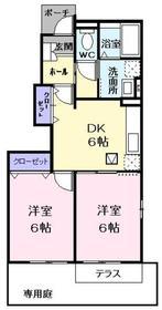 青梅駅 バス12分「吉野梅林」徒歩2分1階Fの間取り画像