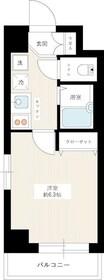 グランヴァン横濱ビアンコーヴォ1階Fの間取り画像