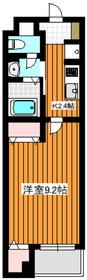 白子リバーハイツ2階Fの間取り画像