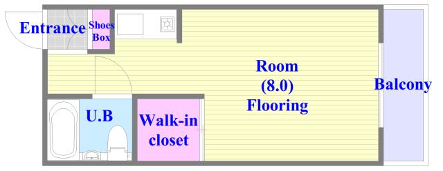 グリーンハウス バス・トイレがセパレート、各所に収納がある使いやすい間取り。