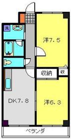 日野インタービル2階Fの間取り画像