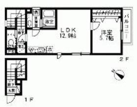 La Maison九段坂上B2階Fの間取り画像