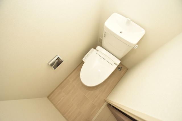 エグゼ今里 白くてピカピカのトイレですね。癒しの空間になりそう。