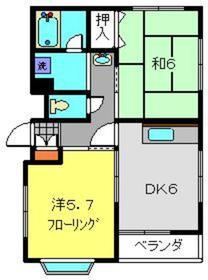安田ビル5階Fの間取り画像