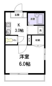 メゾン・ラメール2階Fの間取り画像