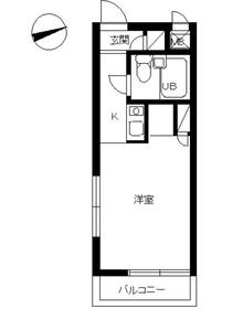 スカイコート日吉2階Fの間取り画像