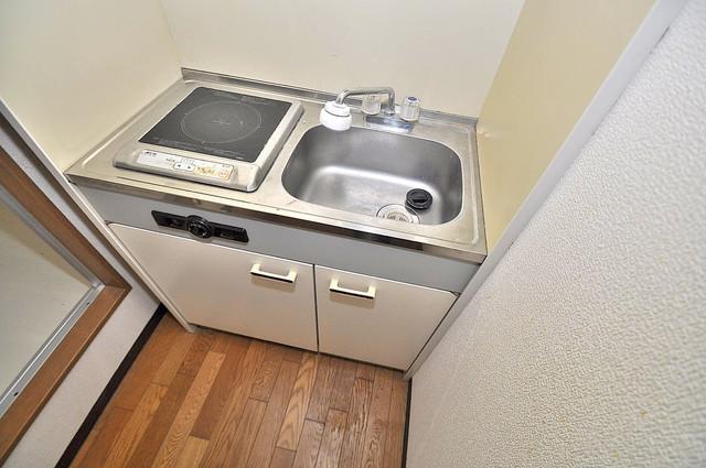 YMSマンション 単身用のカワイイミニキッチンです。