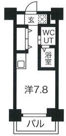 クラリッサ川崎EAST2階Fの間取り画像