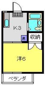 クエスト長谷川1階Fの間取り画像