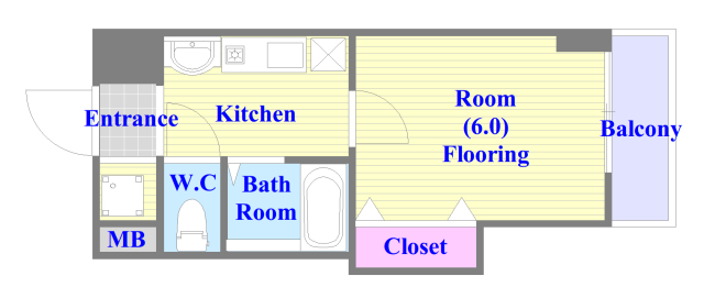 CITY SPIRE布施(ラグゼ布施) バス・トイレがセパレート、各所に収納がある使いやすい間取り。