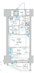 蒲田マンション3階Fの間取り画像