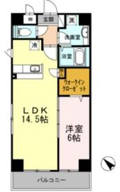 ル・シャトー・オンジェム6階Fの間取り画像
