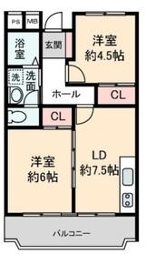本鵠沼駅 徒歩11分1階Fの間取り画像
