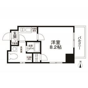 エスペランサK錦糸町8階Fの間取り画像