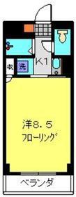 ツカヤマコートB棟2階Fの間取り画像