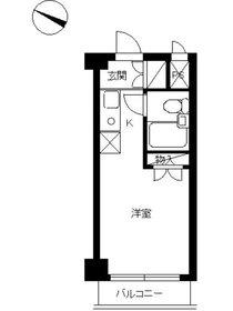 スカイコート落合第22階Fの間取り画像