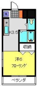 ライフモリ7号館2階Fの間取り画像