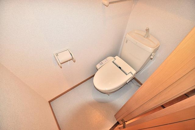 コンフォート・R 清潔感のある爽やかなトイレ。誰もがリラックスできる空間です。