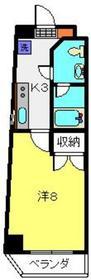 台町レジデンス8階Fの間取り画像