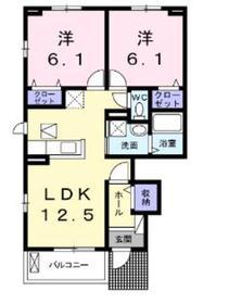 ヴィーナスフォレスト1階Fの間取り画像