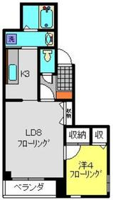 エトワールⅡ4階Fの間取り画像