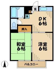 ハイムニューセラ3階Fの間取り画像